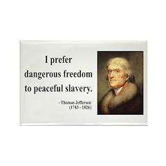Thomas Jefferson 15 Rectangle Magnet (100 pack)