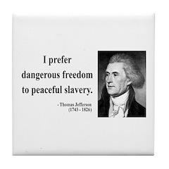 Thomas Jefferson 15 Tile Coaster