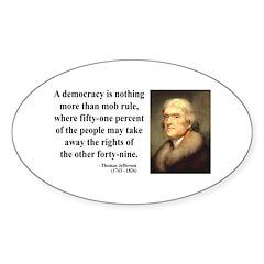 Thomas Jefferson 16 Oval Decal