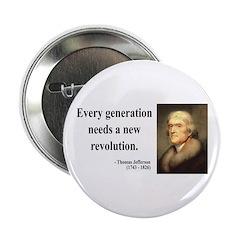 """Thomas Jefferson 17 2.25"""" Button"""
