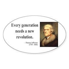 Thomas Jefferson 17 Oval Decal