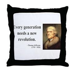 Thomas Jefferson 17 Throw Pillow