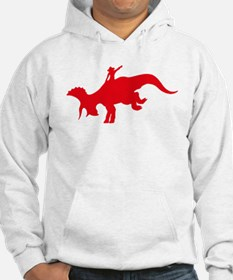 Red Rodeo Triceratops Hoodie