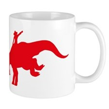 Red Rodeo Triceratops Mug