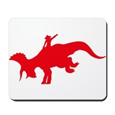 Red Rodeo Triceratops Mousepad