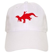 Red Rodeo Triceratops Baseball Cap