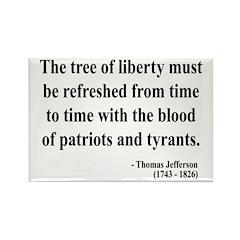 Thomas Jefferson 18 Rectangle Magnet (100 pack)