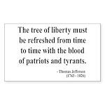 Thomas Jefferson 18 Rectangle Sticker