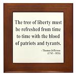 Thomas Jefferson 18 Framed Tile