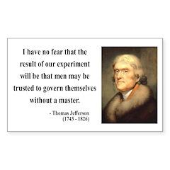 Thomas Jefferson 19 Rectangle Decal