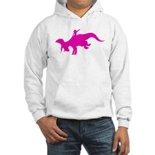 Pink Rodeo Triceratops Hoodie