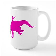 Pink Rodeo Triceratops Mug