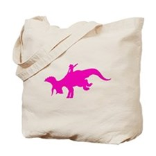 Pink Rodeo Triceratops Tote Bag