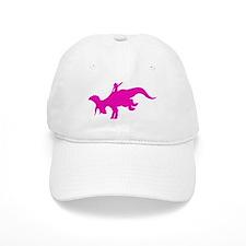 Pink Rodeo Triceratops Baseball Cap