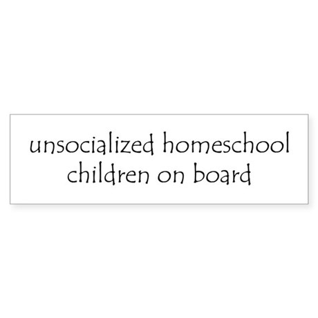 Unsocialized Children Bumper Sticker white