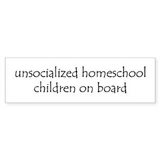Unsocialized Children Bumper Sticker white