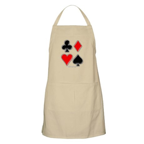 Playing Card Suits BBQ Apron