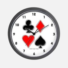 Playing Card Suits Wall Clock