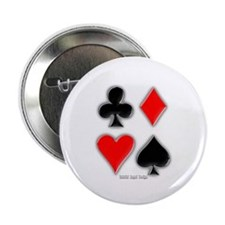 "Playing Card Suits 2.25"" Button"
