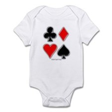 Playing Card Suits Infant Bodysuit
