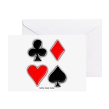 Playing Card Suits Greeting Card