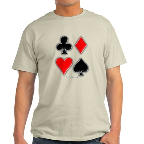 Playing Card Suits Light T-Shirt