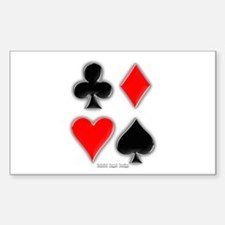 Playing Card Suits Rectangle Decal