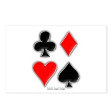 Playing Card Suits Postcards (Package of 8)