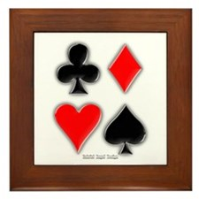 Playing Card Suits Framed Tile
