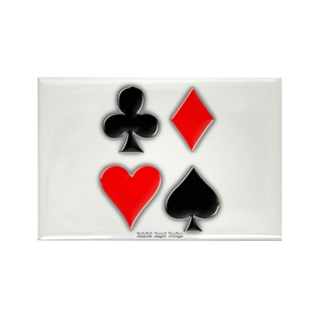 Playing Card Suits Rectangle Magnet (100 pack)