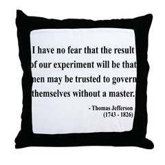 Thomas Jefferson 19 Throw Pillow
