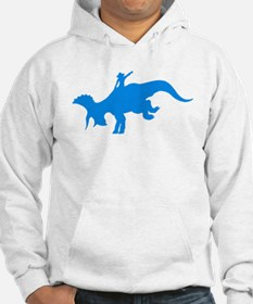 Light Blue Rodeo Triceratops Hoodie