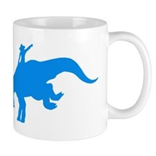 Light Blue Rodeo Triceratops Mug