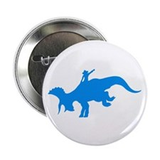 """Light Blue Rodeo Triceratops 2.25"""" Button"""
