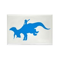 Light Blue Rodeo Triceratops Rectangle Magnet