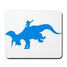 Light Blue Rodeo Triceratops Mousepad