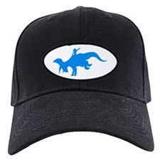 Light Blue Rodeo Triceratops Baseball Hat