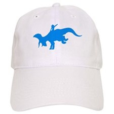 Light Blue Rodeo Triceratops Baseball Cap