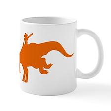 Orange Rodeo Triceratops Mug