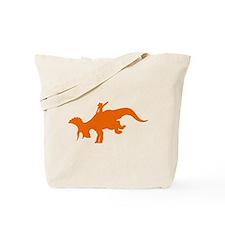 Orange Rodeo Triceratops Tote Bag