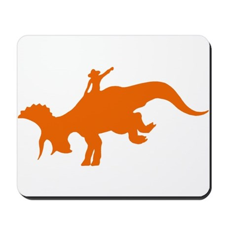 Orange Rodeo Triceratops Mousepad