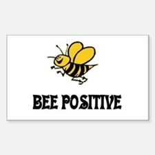 Bee Positive Rectangle Decal