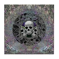 Peek-a-Boo Skulls Tile Coaster