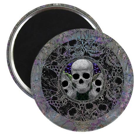 Peek-a-Boo Skulls Magnet