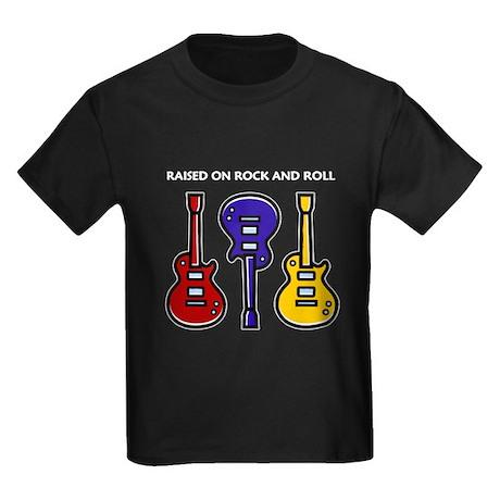 Raised On Rock & Roll Kids Dark T-Shirt