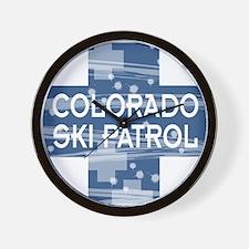 Colorado Ski Patrol Wall Clock