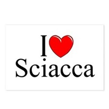 """""""I Love (Heart) Sciacca"""" Postcards (Package of 8)"""