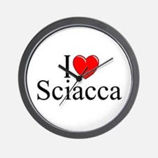 """I Love (Heart) Sciacca"" Wall Clock"