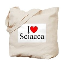 """I Love (Heart) Sciacca"" Tote Bag"