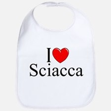 """I Love (Heart) Sciacca"" Bib"